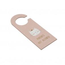 Дверная вешалка розовая Cat МДФ 24см
