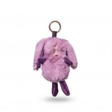 Брелок для ключей Детка розовый мех 23 см
