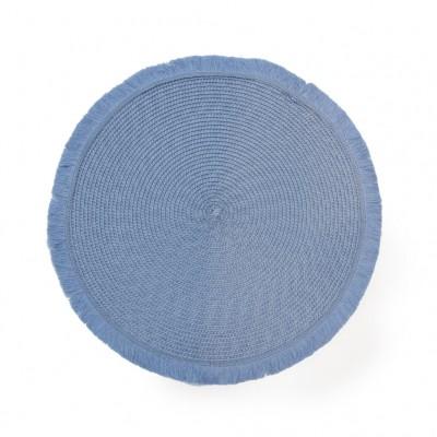 Циновка круглая голубая 30 см
