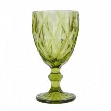"Бокал стекло ""Rhombus"" зеленый 320мл"