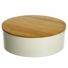 Шкатулка- зеркало с бамбуковой крышкой 15, 2 см