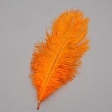 Страусиное перо 25-30 см оранжевый (8501-002/orange)