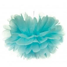 Бумажный пом-пон, голубой 35 см. (8705-016)