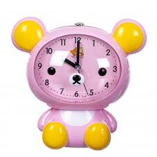 Будильник 'Медведь' розовый