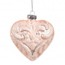 Елочная игрушка Сердце, 9,5х9см (014NB)