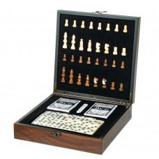 Игровой набор 3 в 1 (шахматы, карты, домино) (8718-001)