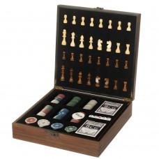 Игровой набор 2 в 1 (шахматы, покер) (8718-006)