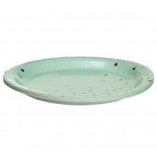 Набор тарелок Горошинки 23 см., 10шт. *4 цвета (8513-001)