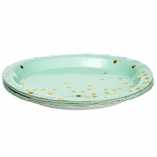 Набор тарелок Горошинки 18 см., 10шт. *4 цвета (8513-002)
