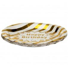 Нбор тарелок Золото 18 см., 10 шт (8513-006)