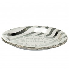 Набор тарелок Серебро 18 см., 10 шт (8513-007)